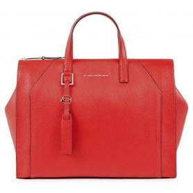 Piquadro Muse Tasche mit zwei roten Griffen CA4325MU / R
