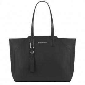 Shopping bag Piquadro Muse grande nera BD4323MU/N