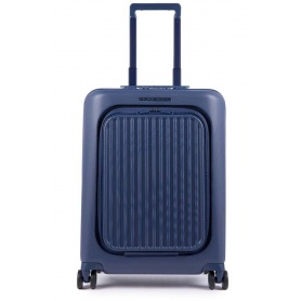 Trolley Piquadro small blue Seeker BV4426SK / BLU
