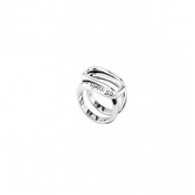 Anello Uno de50 Atrapado fascia argentata - ANI0571MTL0000L