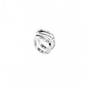 Ring Uno de50 Atrapado Silberband - ANI0571MTL0000L