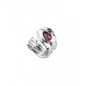 Ring Uno de50 Mìrame gewebte Feder mit XL Stein