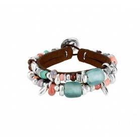 Bracelet Uno de50 Feelings stones and leather - PUL1736MCLMAR0M