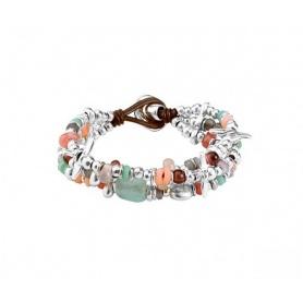 Bracciale Uno de50 Love Bubble multifilo pietre e metallo