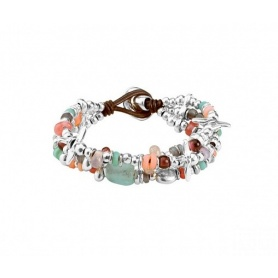 Bracelet One de50 Love Bubble multi-strand stones and metal