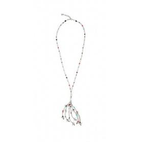Halskette Uno de 50 Feelings lange Kristalle und Silber