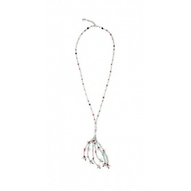 Necklace Uno de 50 Feelings long crystals and silver
