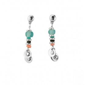 One de50 Earrings Cosquillas colored stones - PEN0581MCLMTL0U