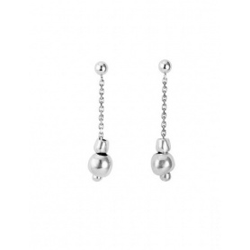 One de50 Earrings Falling in Love long silver plated