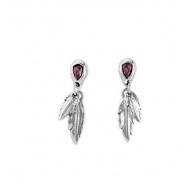 One de50 Earrings Mìrame feather and crystal - PEN0597MORMTL0M