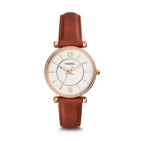 Fossil watch woman Carlie rosè leather with swarovski - ES4428