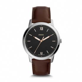 Fossil men's watch The Minimalist in leather and luminous hands - FS5464