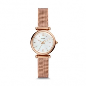 Fossil woman's watch Carlie rosè milano pearl nacre