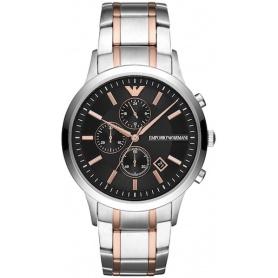 Armani Chrono Uhr Rose und Silber Renato - AR11165