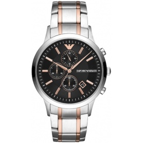 Armani Chrono watch rose and silver Renato - AR11165