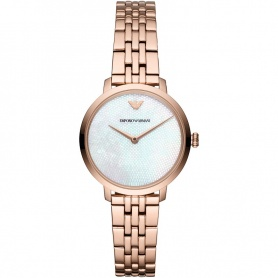 Emporio Armani watch woman rosé and mother of pearl - AR11158