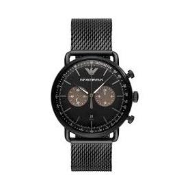 Armani Uhr Chrono Milanese Mesh schwarz Mesh - AR11142