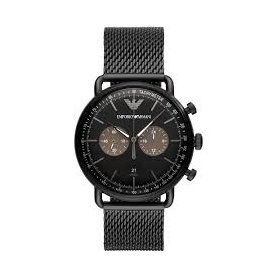 Armani watch Chrono Milanese mesh black mesh - AR11142