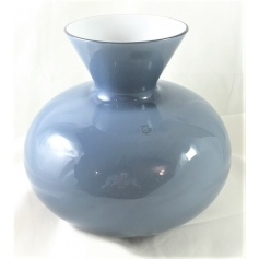 Vase Venini Idria low color grape inside lattimo 706.41UV