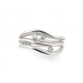 Annamaria Cammilli Luxor ring in white gold - GAN2632W