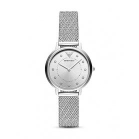Armani Uhr Damenindizes mit Kristallen AR11128