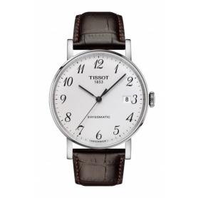 Tissot Everytime Swissmatic brown crocodile watch