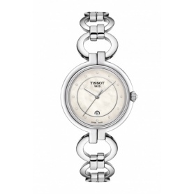 Tissot Flamingo watch with ringed bracelet - T0942101111600