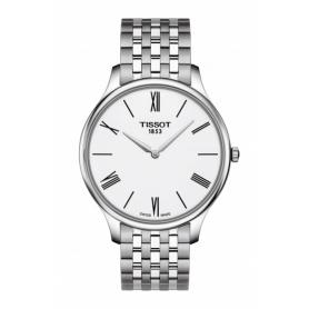 Tissot Tradition Skin watch in white Roman numerals