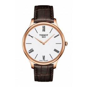 Tissot Tradition Skin rosè watch in leather - T0634093601800