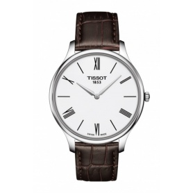 Tissot Tradition Skin silver watch in leather - T0634091601800