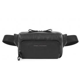 Piquadro Waist bag Line black leather - CA4491W89 / N