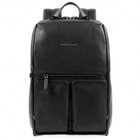 Piquadro Fast-Check Line backpack in black leather - CA4541W89 / N