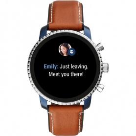 Smartwatch Fossil Gen 4Q Exclorist HR braunes Leder