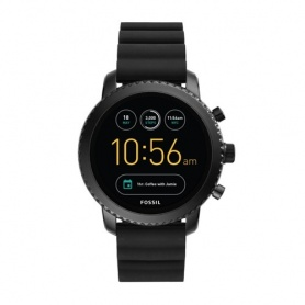 Watch Fossil Gen 4Q explorist HR silicone black - FTW4018