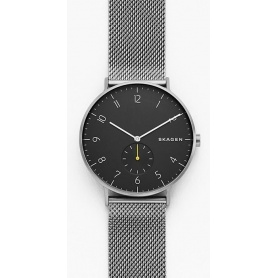 Skagen Steel-Mesch Aaren men's watch dark gray