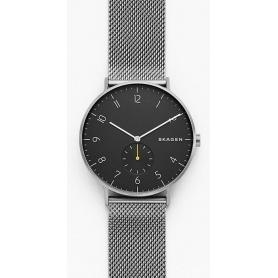 Skagen Steel-Mesch Aaren men's watch dark gray