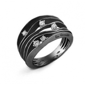 Annamaria Cammilli Dune ring in black gold GAN0914E