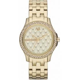 Armani Exchange Lady Hampton woman gold watch