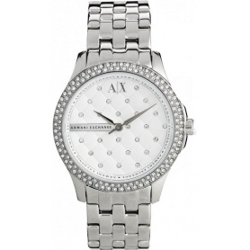 Armani Exchange Lady Hampton silver woman watch