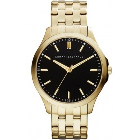 Orologio uomo Armani Exchange Hampton ultrasottile gold
