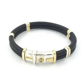 Bracciale Misani gioielli con oro,argento e diamante brown