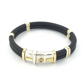 Misani jewelry bracelet with gold, silver and brown diamond