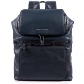 Unisex Piquadro Line blue backpack - CA4486W89 / BLU