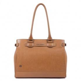 Shopping bag donna Piquadro Cube cuoio - BD4477W88/CU