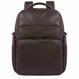 Dark brown Piquadro B3 men's backpack - CA4532B3 / TM